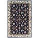 Artisan Decor Black & Cream Kashan Wool-Blend Rug