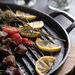 Soga Black 30cm Cast Iron Grill Pans