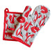 The Farmers Pantry 2 Piece Fox Cotton Pot Holder & Oven Glove Set