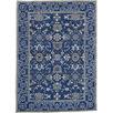 Blue Tabriz Wool Rug