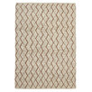 Finn Scandinavian Style Viscose and Wool Copper and Natural Rug