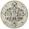 Charcoal Chilaz Bulbut Round Rug