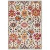 Multi-coloured Wildflower Vintage Look Rug