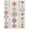 Ivory & Pastel Boho Geometric Rug