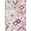 Multi-coloured Pastel Boho Geometric Rug