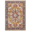 Multi-coloured Rust Florette Vintage Look Rug
