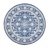Navy Power Loomed Round Rug