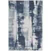 Denim Blue Matisse Jacquard Cotton Rug