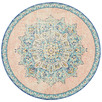 Flamingo Power-Loomed Bohemian Round Rug