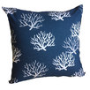 Indigo Coral Cushion