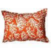 Coral Orange Accent Pillow