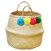 Large Pom Pom Belly Basket