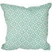 Aqua & Ivory Geometric Outdoor Cushion