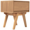Natural Jackson Bedside Table with 1 Drawer