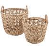 2 Piece Pat Water Hyacinth Basket Set
