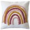 Rainbow Tufted Cotton Cushion