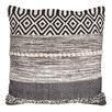 Natural & Black Indie Woven Cotton Cushion