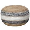 Natural & Black Lyra Round Ottoman