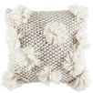 Super Pompom Knitted Cushion