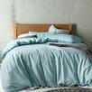 Blue Ella Washed Cotton Quilt Cover Set
