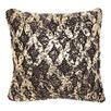 Dark Grey & Gold Knit Foiled Cushion Kav Cushion