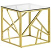Gold Polished Luxe Geo Side Table
