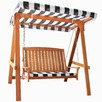 2 Seater Monochrome Rivers Outdoor Canopy Swing