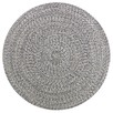 Steel Merino Round Cotton Rug