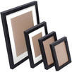 4 Piece Black Photo Frame Set