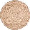 Plumeria Spiral Round Jute Rug