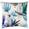 White Cockatoo Bird Outdoor Cushion