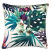 White Cockatoo Flower Outdoor Cushion