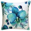 Blue Lagoon White Flower Outdoor Cushion