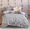 Ruffled Happy Meadow Cotton Quilt Cover Set