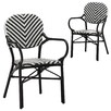 Black Paris PE Rattan Cafe Arm Chair