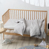 Pale Grey Maddison Cot Coverlet
