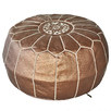 Bronze Marrakesh Traditional Stitch Ottoman Cover