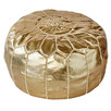 Gold Marrakesh Traditional Stitch Ottoman Cover