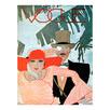 Vintage Vogue Cover Couple Canvas Wall Art