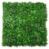 Variegated Lush Faux Foliage Wall Panel