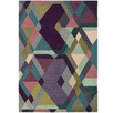 Purple Mosaic Hand-Tufted Wool & Viscose Rug
