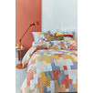 Coral Maipu Cotton Quilt Cover Set