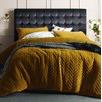 Gold Harmony Chevron Quilted Velvet Quilt Cover Set