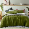 Mossy Green Holts Linen Quilt Cover Set