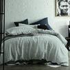 Light Grey Stripe Yarn-Dyed Linen Quilt Cover Set