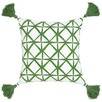 Isak Green Cotton Cushion
