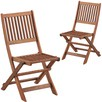 Parklands Slatted Timber Outdoor Folding Chairs