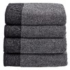 4 Piece Charcoal Marle Bathroom Towel Set