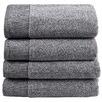 4 Piece Grey Bathroom Towel Set