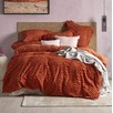 Rust Delilah Quilt Cover Set